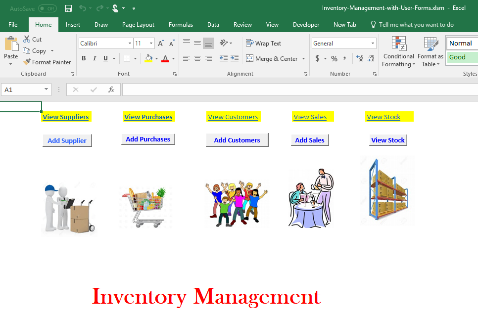 Inventory Management with UserForms